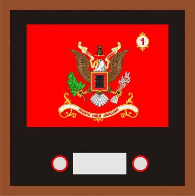 Regimental & Battalion Colors Framed Sets Small 8